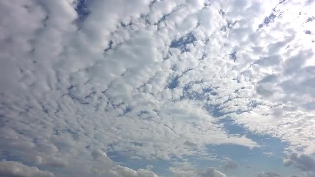 Time Lapse Of Cirrocumulus Clouds: Stock Video