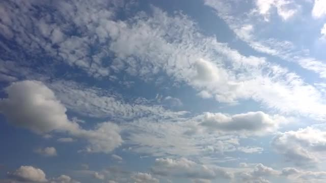 Two Layers Of Cirrocumulus Clouds: Stock Video