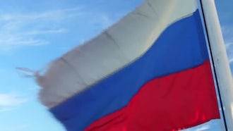 Flag of Russia: Stock Video