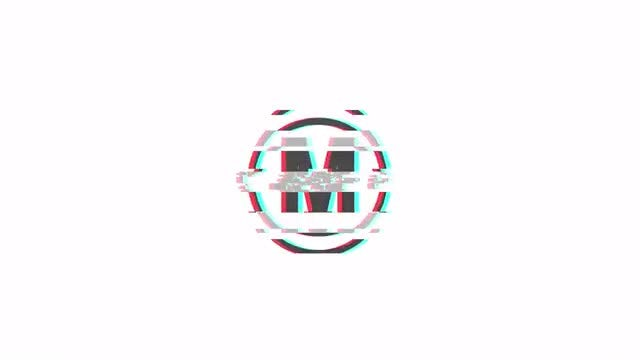 Inverted Color Glitch Logo: After Effects Templates