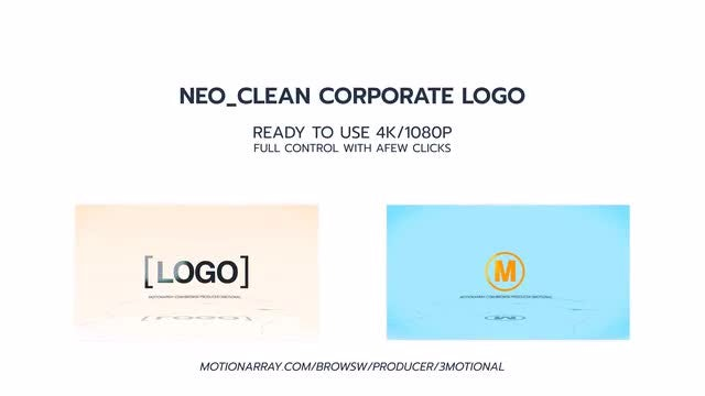 Neo Clean Corporate Logo: After Effects Templates