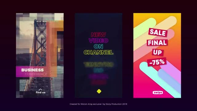 Social Media Stories Pack: After Effects Templates