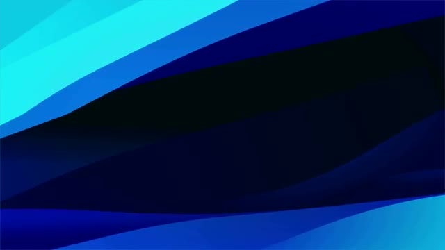 Blue Abstract Waves Looped Background: Stock Motion Graphics