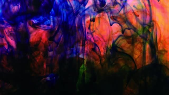 Colorful Liquid Paints In Water: Stock Video