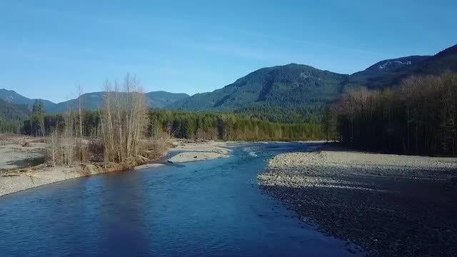 Following The Mountain Stream Trail: Stock Video
