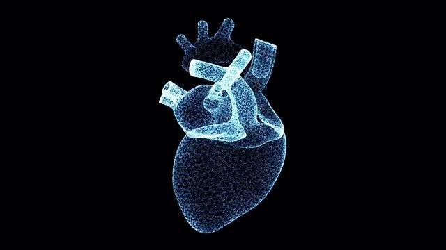 4k Holographic Particle Heart: Stock Motion Graphics