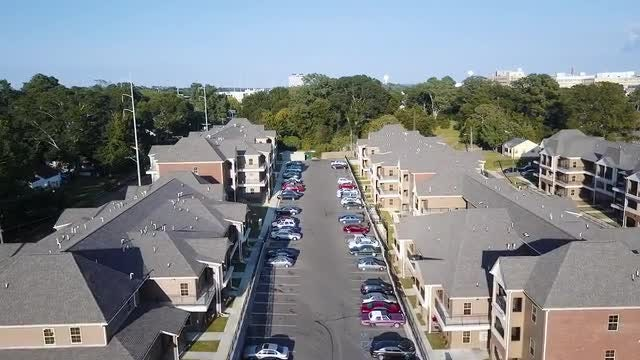 Aerial Shot Of Housing Project: Stock Video