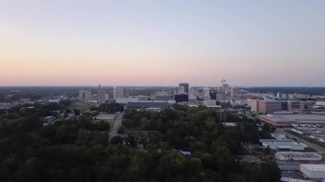 Aerial Shot Of Jackson Mississippi: Stock Video