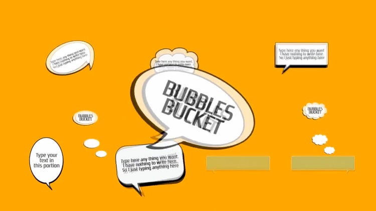 Bubbles Bucket: After Effects Templates