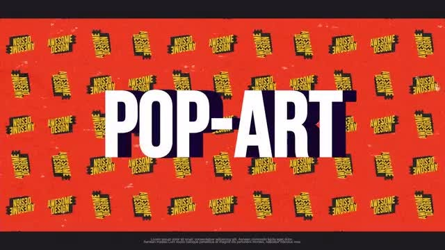 Pop Art Typography Opener: Premiere Pro Templates