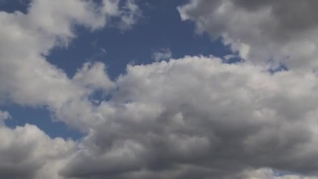 Heavy Gray Clouds Time Lapse: Stock Video