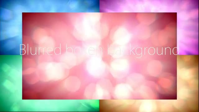 Blurred Bokeh Backgrounds Pack: Stock Motion Graphics