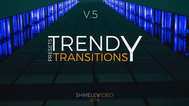 Trendy Transitions Presets V.5: Premiere Pro Presets