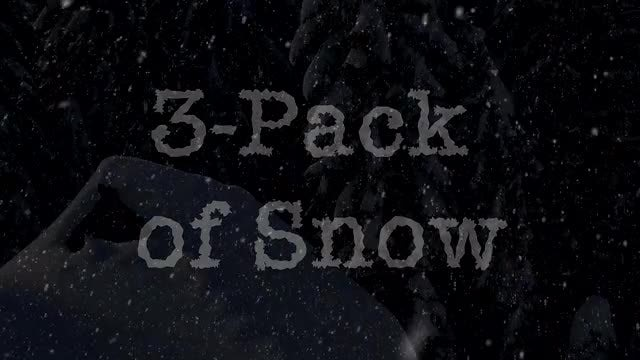 3-Pack Snow for Winter Footage: Stock Motion Graphics