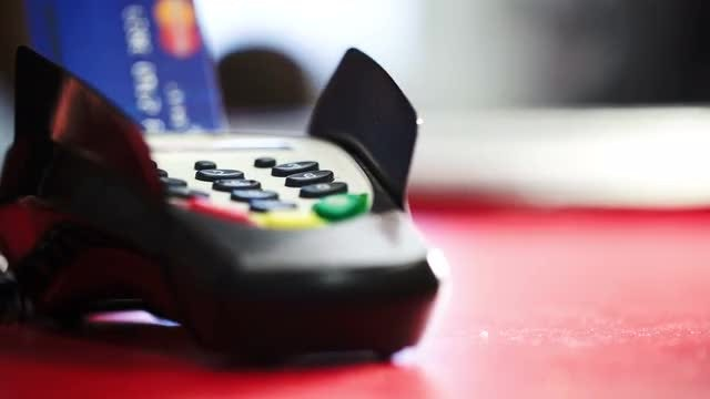 Credit Card Terminal: Stock Video