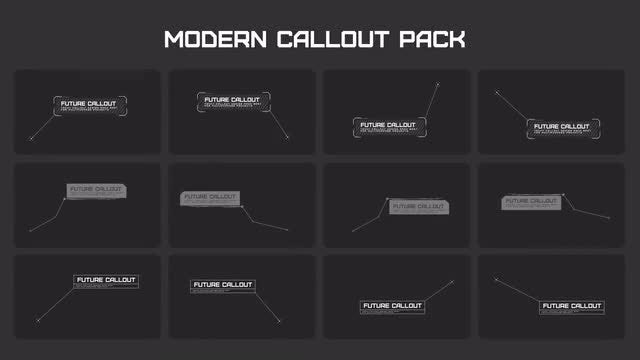 Modern Callout Pack: After Effects Templates