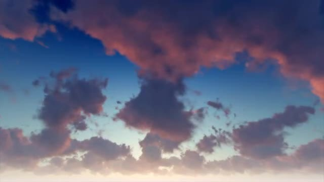 Bright Sky Darkens To Sunset: Stock Motion Graphics