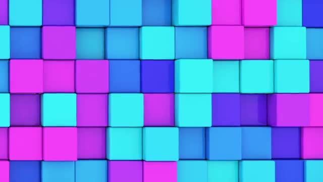 Colorful Cubes: Stock Motion Graphics