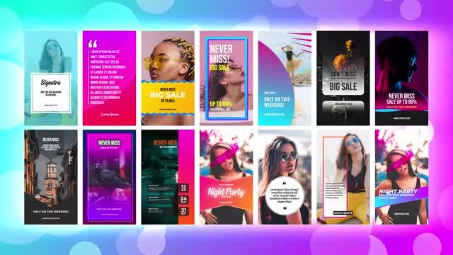 Instagram Stories Pack 8: After Effects Templates