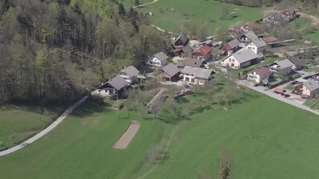 Small Village In The Valley: Stock Video