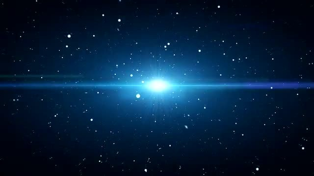 Blue Particles Stellar Beam Background: Stock Motion Graphics