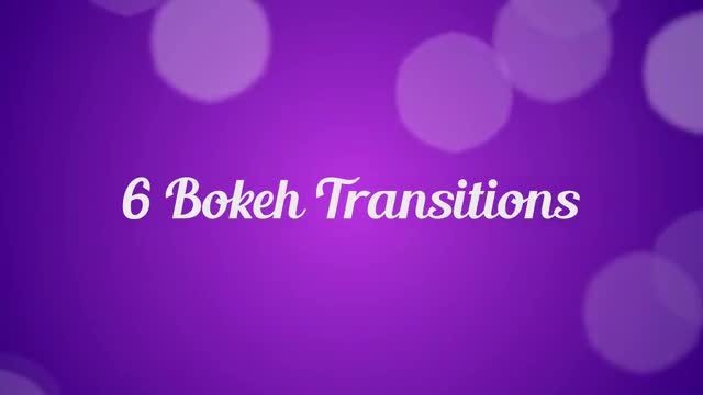 6 Bokeh Transitions: Stock Motion Graphics