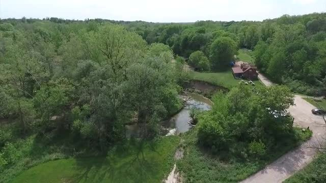 Cattle Ranch By The River: Stock Video