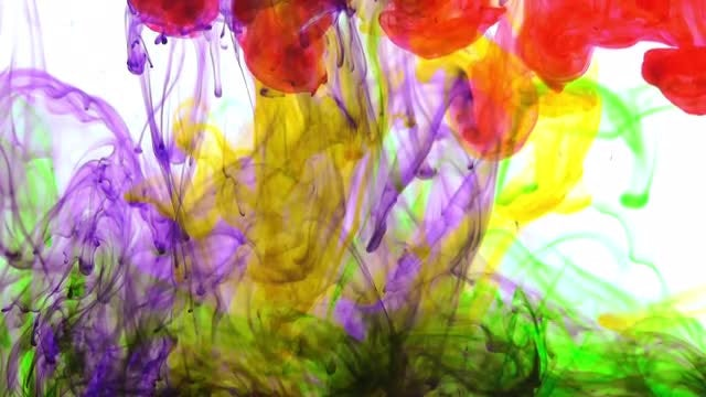 Fascinating Colorful Paint Spreads: Stock Video