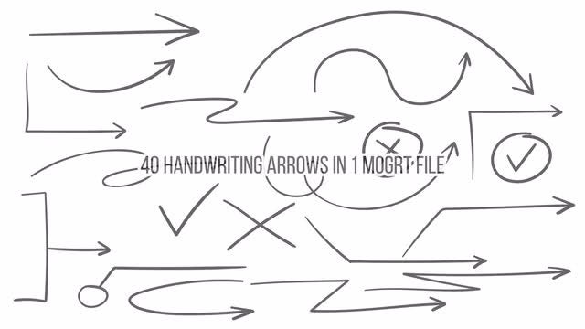 Handwriting Arrows: Motion Graphics Templates