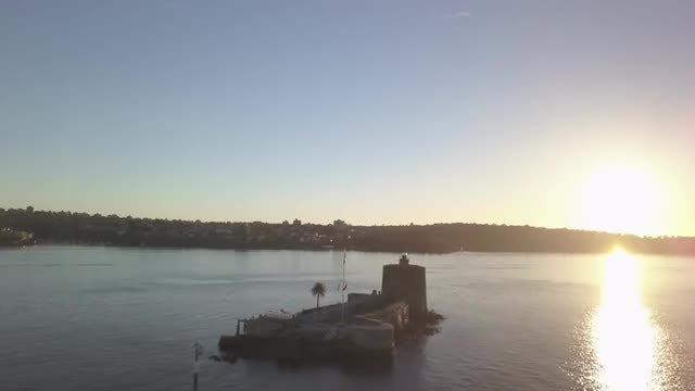 Aerial Shot Of Sydney Harbor: Stock Video