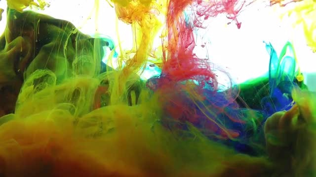 Colorful Mixture Of Paint Spreading: Stock Video