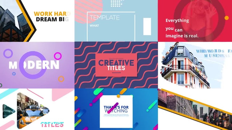 Creative Titles: Motion Graphics Templates