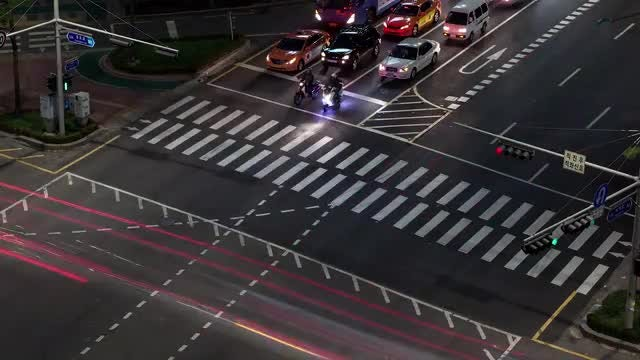 Traffic At Intersection In Seoul: Stock Video