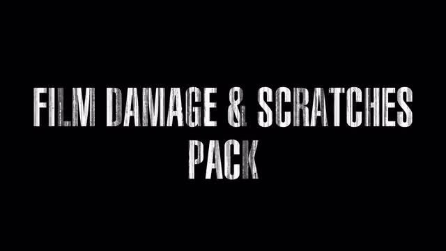 Film Damage & Scratches.  Pack. Loop.: Stock Motion Graphics