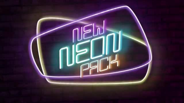 Neon Titles: Premiere Pro Templates