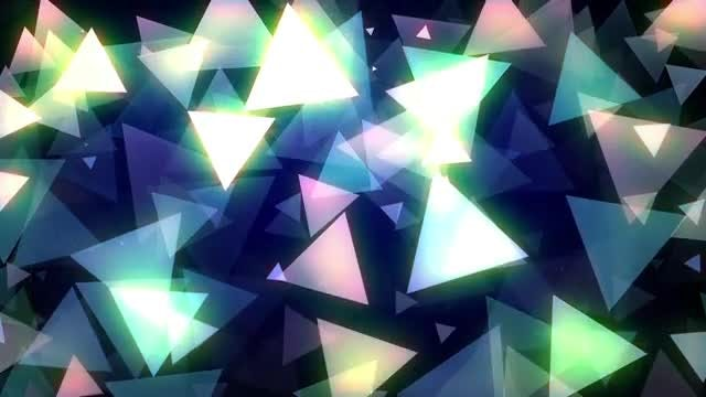 Glowing Triangles Vj Loop: Stock Motion Graphics
