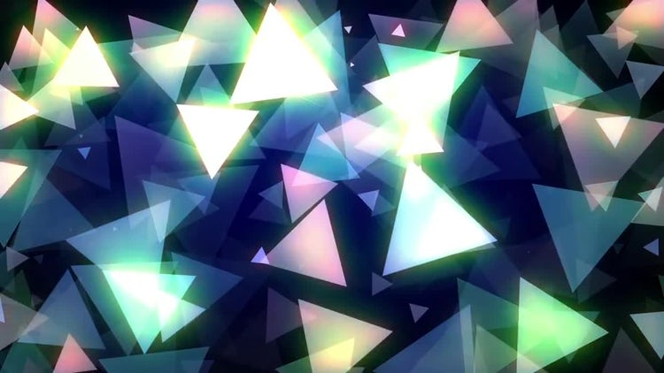 Glowing Triangles Vj Loop: Motion Graphics