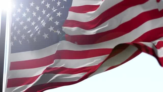 USA Flag in the Wind: Stock Motion Graphics
