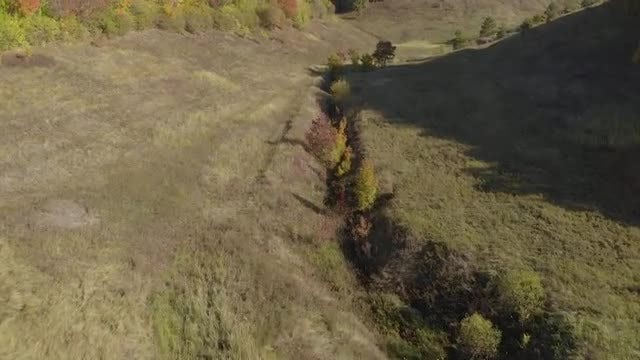 Aerial Shot Of A Hill: Stock Video