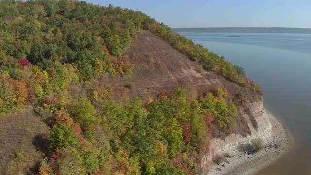 Aerial Shot Of Hilly Island: Stock Video