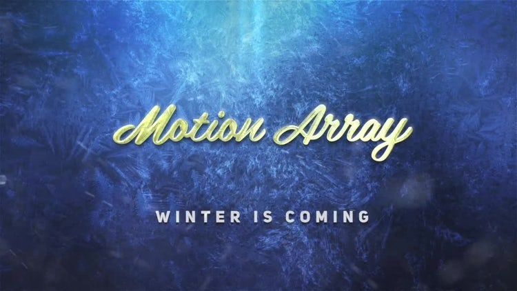 Winter Is Coming: After Effects Templates