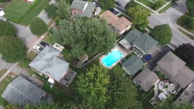 Aerial Shot Of Residential Neighborhood: Stock Video
