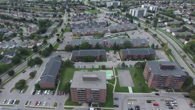 Wide-angle View Of Urban Neighborhood: Stock Video
