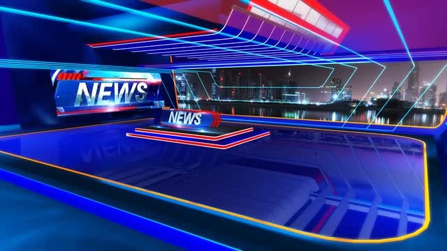 News Virtual Set: Stock Motion Graphics