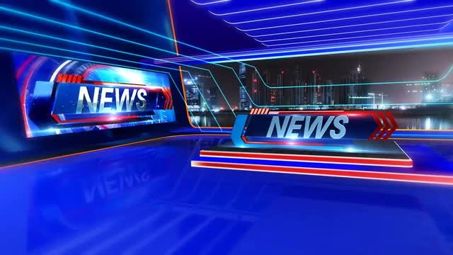 News Virtual Set - Closer Shot: Stock Motion Graphics