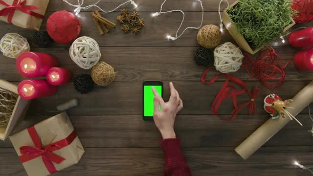Wrapped Gifts And Smartphone: Stock Video