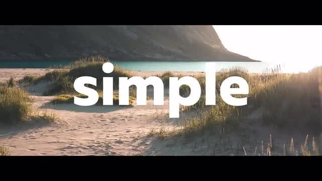 Simple Opener: DaVinci Resolve Templates