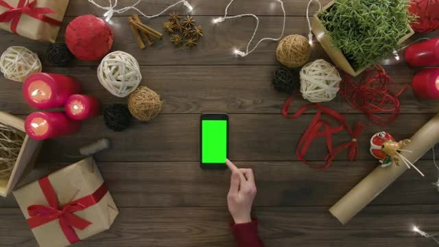 Smartphone Lying On Wooden Table: Stock Video
