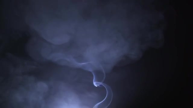 Smoke Rising In Slow Motion: Stock Video