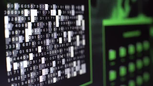 Close-up Shot Of Computer Screen: Stock Video